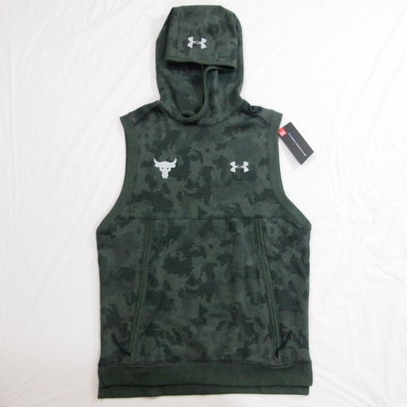 72d9af1be196f1 Under Armour x Project Rock Sleeveless Hoodie Camo